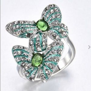 ❤️❤️gorgeous 🦋925 silver two butterfly ring